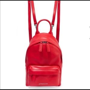 Authentic Givenchy Red Nano backpack